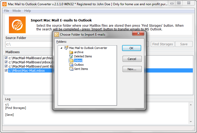 Mac Mail to Outlook Converter » Import Mac OS emails to MS